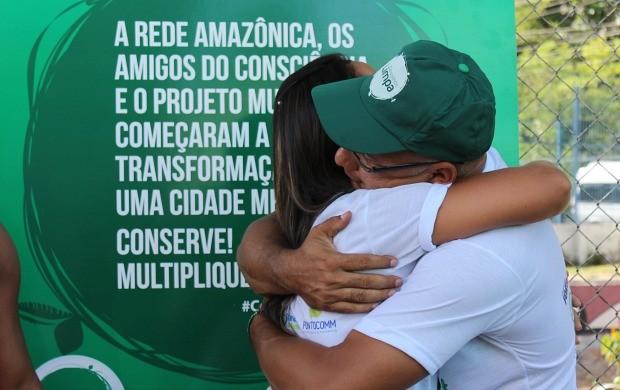 Emocionado, Manoel Santana agradeceu apoio da Rede Amazônica (Foto: Katiúscia Monteiro/ Rede Amazônica)