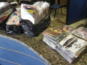 Mercadoria estava na bagagem de passageiro de ônibus (Foto: Divulgação/PRF)