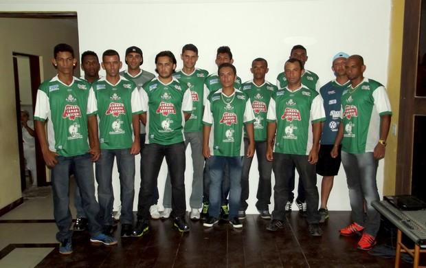 Palmeira de Goianinha apresenta jogadores que disputarão o Campeonato Potiguar (Foto: Jocaff Souza/GLOBOESPORTE.COM)
