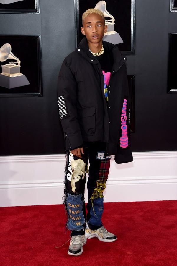Jaden Smith no Grammy 2018  (Foto: getty images)