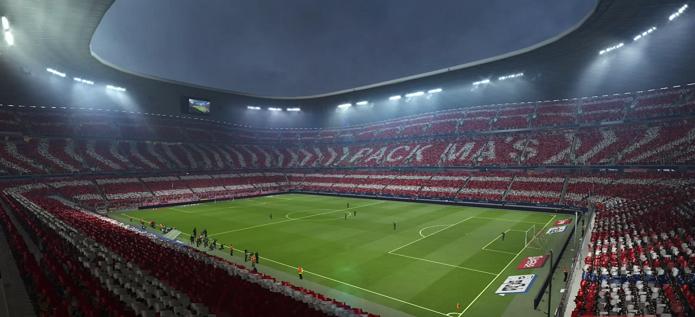 Estádio do Bayern também está no jogo (Foto: Reprodução/Thiago Barros)