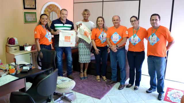 Agência de publicidade Na Medida foi um dos parceiros que receberam brindes (Foto: Murilo Lima)