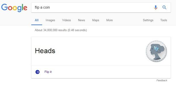 google flip a coin cara (Foto: Reprodução)