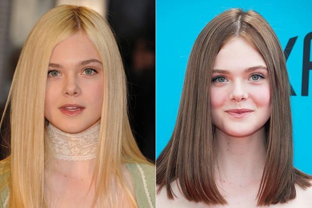 Mudança de visual de Elle Fanning (Foto: Agência Getty Images - Agência AFP)
