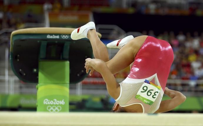Oksana Chusovitina Uzbequistão ginástica artistica (Foto: Reuters)