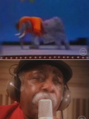 """Diversidade: cantando """"O Elefante"""" nos Trapalhões e levando a poesia Nordestina para artistas do Mississipi (Foto: Reprodução/TV Globo)"""