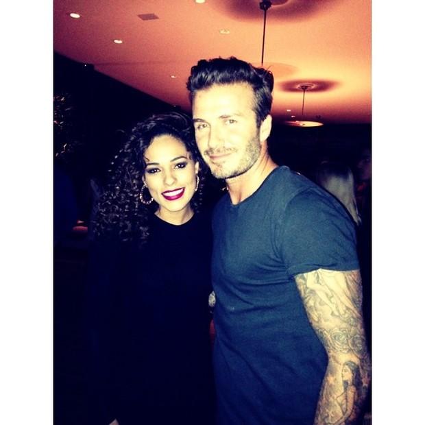 Roberta Almeida e  David Beckham (Foto: Reprodução do Instagram)