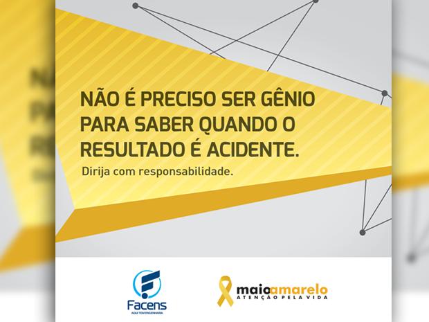Facens leva 1º lugar em prêmio com campanha de apoio ao Maio Amarelo (Foto: Atua Agência)