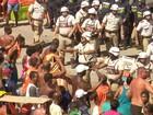 Vendedores ambulantes fazem protesto no carnaval de Salvador