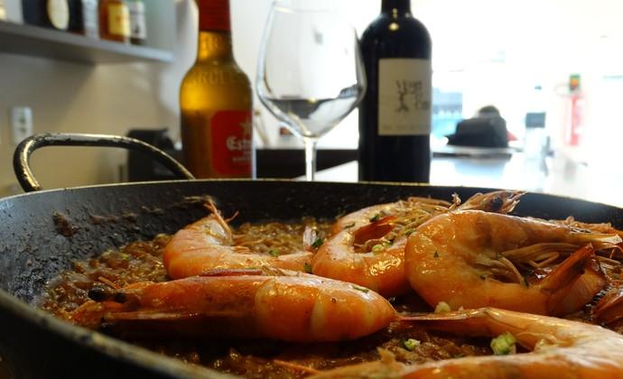Restaurante espanhol Caruaru (Foto: André Vinícius / GloboEsporte.com)