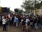 Manifestantes protestam contra governo Temer em Chapecó