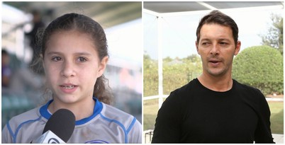 Carmel e Leandro, dois brasileiros que moram em Orlando (Foto: Reprodução TV Globo)