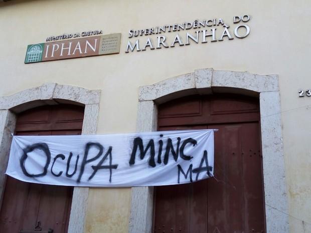 Instituto do Patrimônio Histórico e Artístico Nacional (Iphan) está ocupado desde quarta (19) (Foto: Danilo Quixaba/Mirante AM)