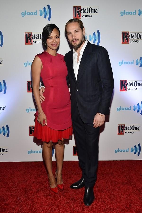 Zoe Saldana e Marco Perego (Foto: Getty Images)