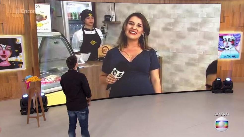 Repórter Priscilla Bitencourt participa do 'Encontro' (Foto: Reprodução / TV Sergipe)