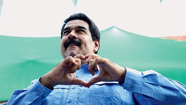 """PROTO-DITADOR  O presidente da Venezuela, Nicolás Maduro. Ele culpa os """"inimigos externos"""" pela crise e persegue os opositores (Foto: Corbis/Latinstock )"""