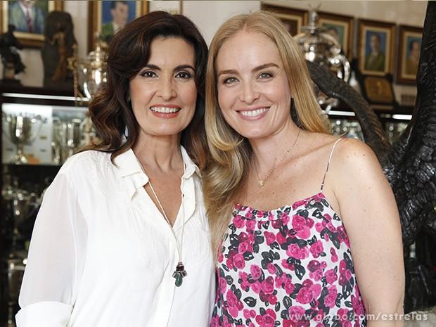 Fátima Bernardes e Angélica (Foto: Estrelas / TV Globo)