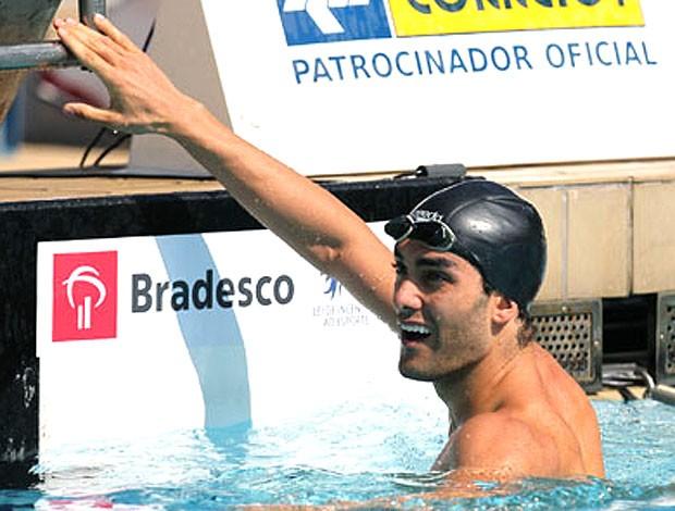 Vinicius Waked na natação (Foto: CBDA)