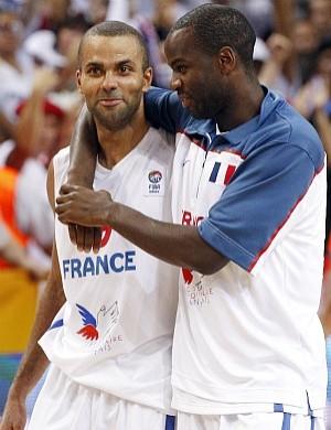 Tony Parker e Boris Diaw, França, Europeu de Basquete (Foto: AP)