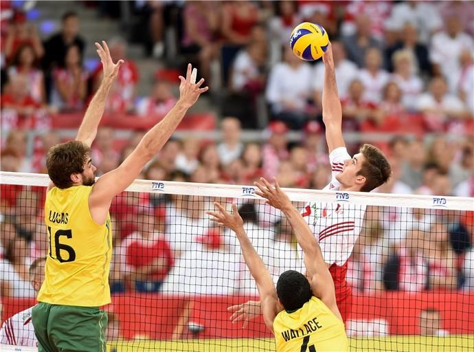 Brasil x Polônia Mundial masculino vôlei (Foto: Divulgação/FIBV)