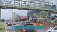 Pedestres enfrentam dificuldades na travessia da AV. Fernando Corrêa