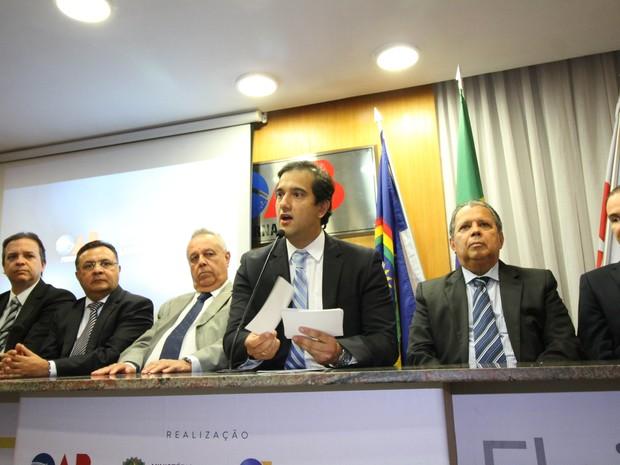 Presidente da OAB-PE, Ronnie Duarte, diz que objetivo é conscientizar eleitor (Foto: Aldo Carneiro/Pernambuco Press)