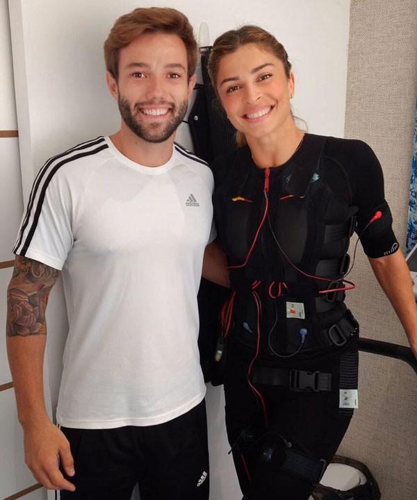 Grazi Massafera com o personal trainer Tobias Campbell (Foto: Reprodução/Instagram)