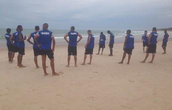 Santa Rita inicia a pré-temporada 2015 com treino leve na Praia do Francês