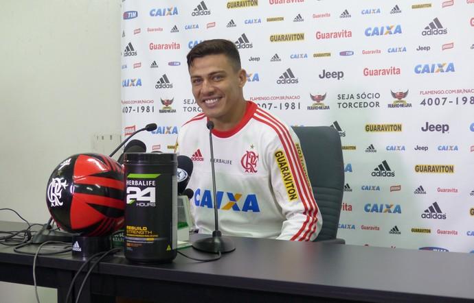 Ayrton Flamengo coletiva (Foto: Fred Gomes)