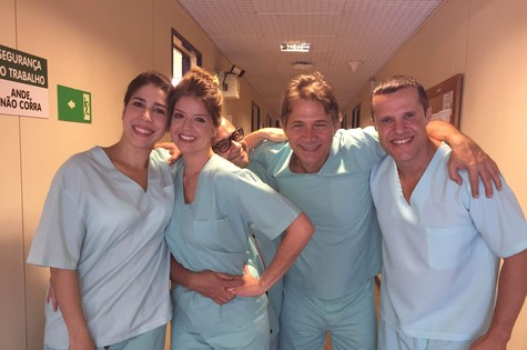 Cristiana Pompeo, Mariana Santos, Welder Rodrigues, Nelson Freitas e Renato Rabelo (Foto: Arquivo)