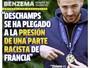 """Benzema critica Deschamps: """"Ele cedeu à pressão racista da França"""""""