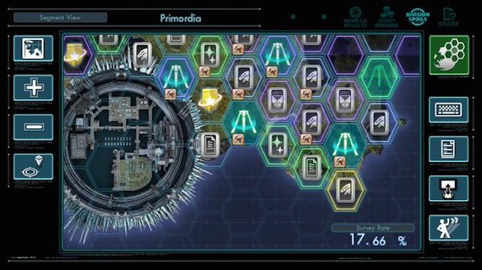 Xenoblade Chronicles X: mapa dividido em blocos facilita a visualização (Foto: Reprodução/Victor Teixeira)
