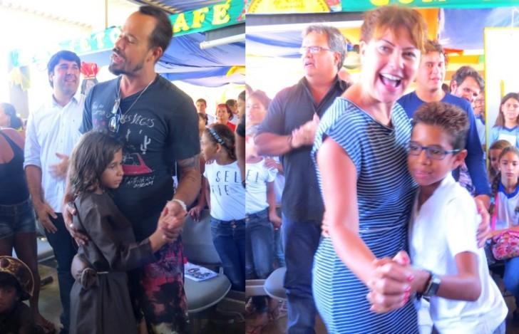 Paulinho Vilhena e Fabìula Nascimento dançando