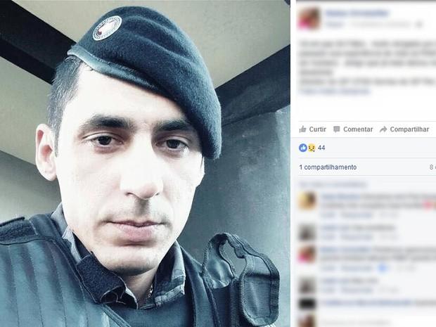 PM foi assassinado em Sinop (MT) (Foto: Reprodução/Facebook)