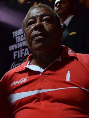 Jairzinho, campeão mundial de 1970 em João Pessoa (Foto: Larissa Keren / GloboEsporte.com/pb)