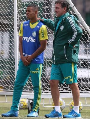 Gabriel Jesus e Cuca Palmeiras treino (Foto: Cesar Greco/Ag Palmeiras/Divulgação)