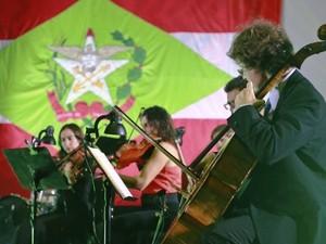 Evento de inauguração teve a apresentação da Camerata Florianópolis  (Foto: Julio Cavalheiro/Secom )