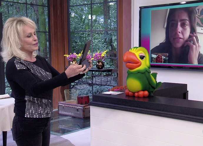 Ana Maria deseja paz para Carol Barcellos (Foto: TV Globo)