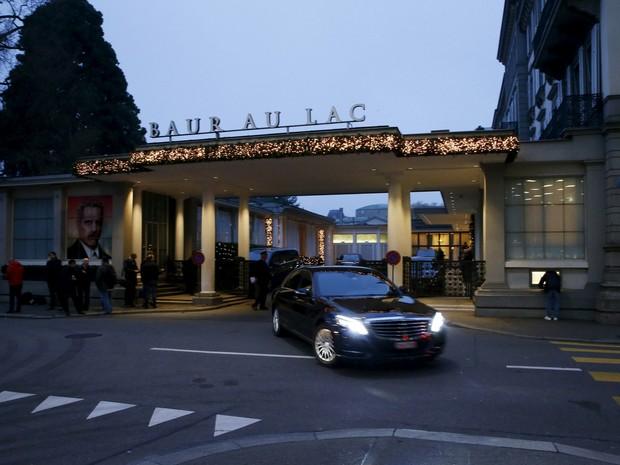 Hotel onde os dirigentes da Fifa foram presos na Suiça (Foto: Arnd Wiegmann/Reuters)