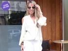 Look do dia: Adriane Galisteu aposta em visual todo branco em almoço