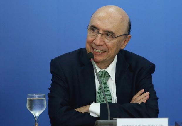 O ministro da Fazenda, Henrique Meirelles, fala durante coletiva de imprensa no Palácio do Planalto, em Brasília (Foto: Lula Marques/Agência PT)