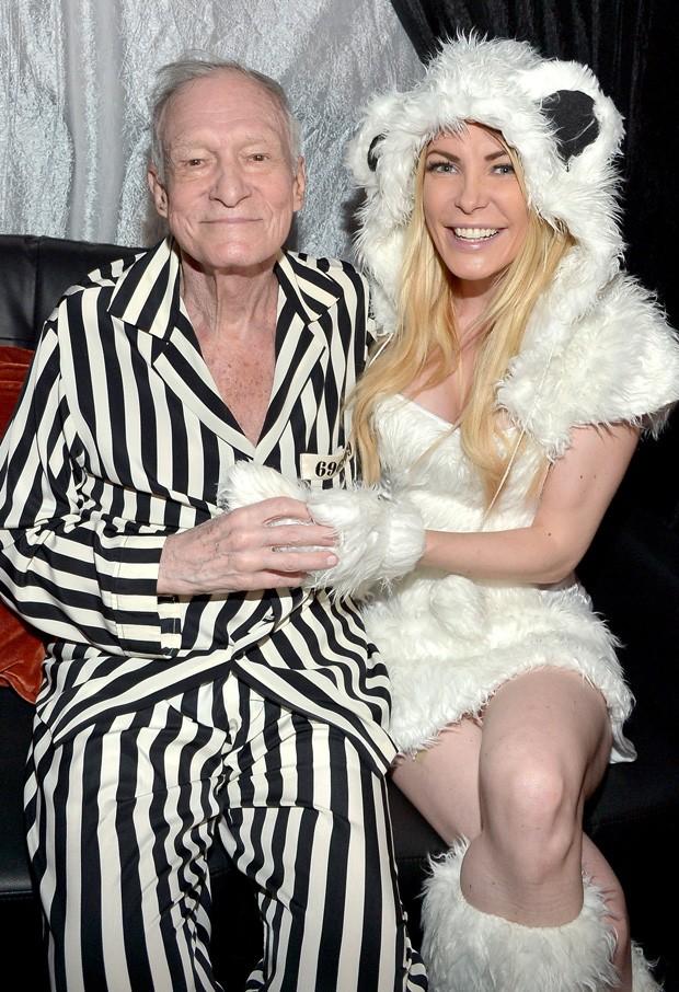 Hugh Hefner e a mulher, Crystal Hefner, com quem estava desde 2012 (Foto: Getty Images)