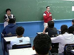 Professores vão atuar nos anos finais do ensino fundamental e no ensino médio (Foto: Reprodução/TV Globo)