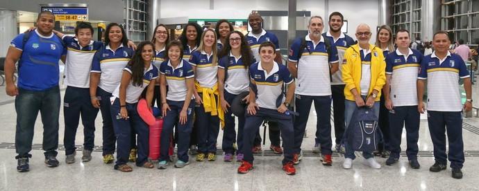 Equipe de judô do Brasil na Universíade (Foto: Reprodução/Facebook)