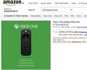Imagem do controle remoto do Xbox One vaza na Amazon canadense (Foto: Reprodução/Amazon.ca)
