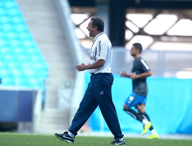 Luxemburgo em treino do Grêmio na Arena (Foto: Lucas Uebel/Grêmio FBPA)