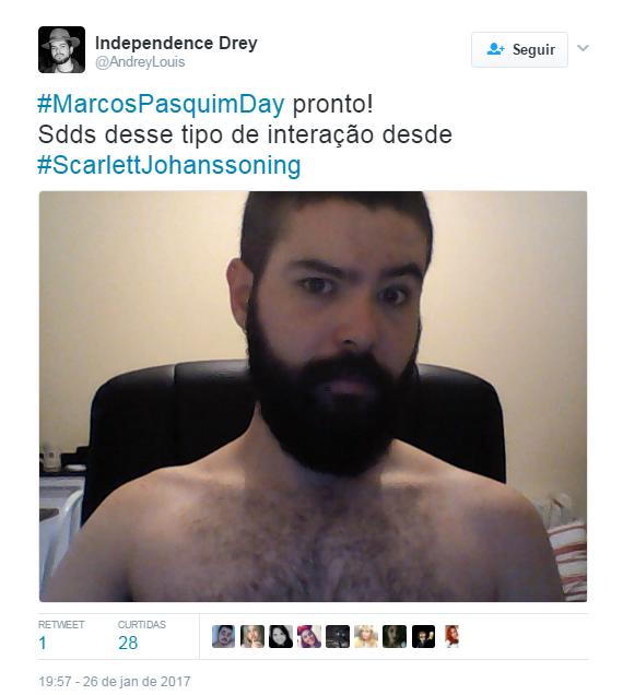Usuários entram no #MarcosPasquimDay (Foto: Reprodução/Twitter)