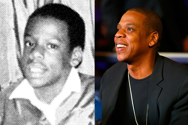 Jay-Z casou-se com Beyonce e tornou-se um dos maiores rappers da atualidade, mas não mudou muito desde sua adolescência (Foto: Reprodução e Getty Images)