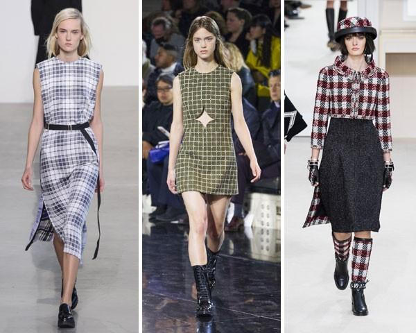 Xadrez numa versão mais leve com Calvin Klein, Courreges e Chanel (Foto: Imaxtree)