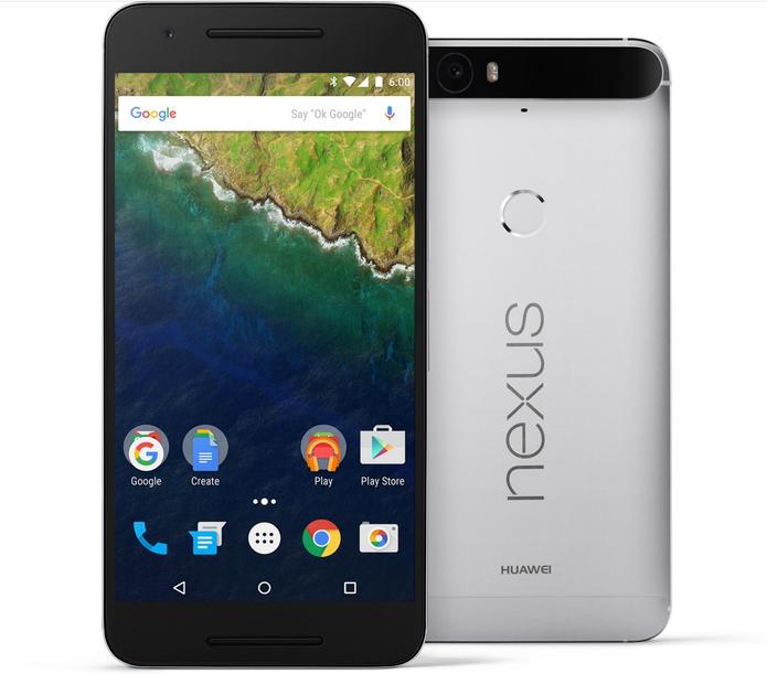 Nexus 6P possui tela menor do que Mate 8, porém com resolução maior (Foto: Divulgação/Google)